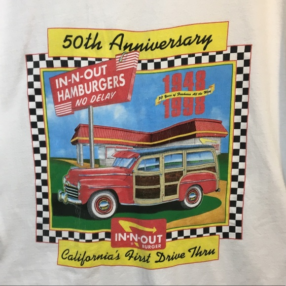 Hanes Beefy-T Other - Vintage In N Out Burger Las Vegas 1998 T shirt